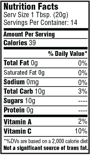 Spicy Cranberry Paradise Pepper Sauce Nutrition Facts