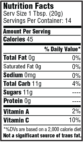 Sweet Habanero Paradise Pepper Sauce Nutrition Facts