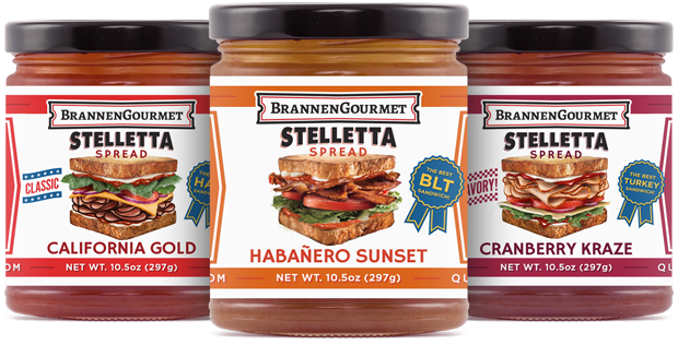 Stelletta Sandwich Spread Three Pack