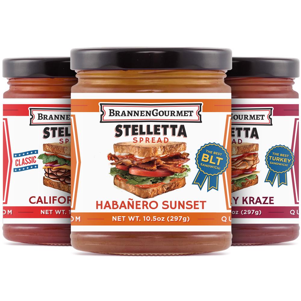 Three Pack Stelletta Sandwich Spread